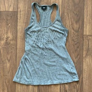 XS Mossimo Gray Racerback Sequins Tank Shirt Top